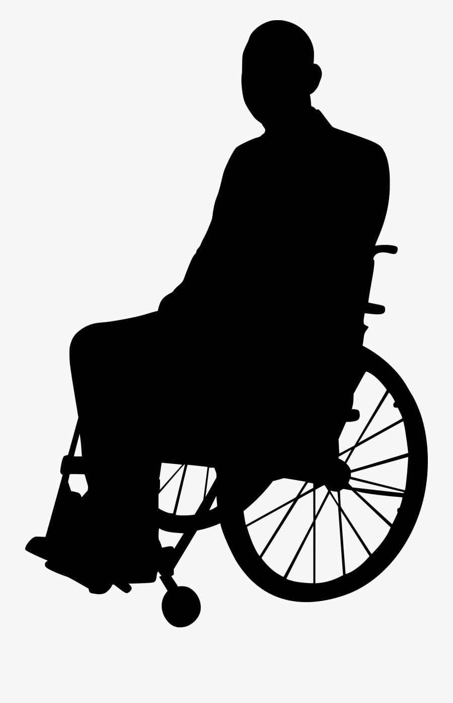 Disabled Png Clipart - Person In Wheelchair Silhouette Png, Transparent Clipart