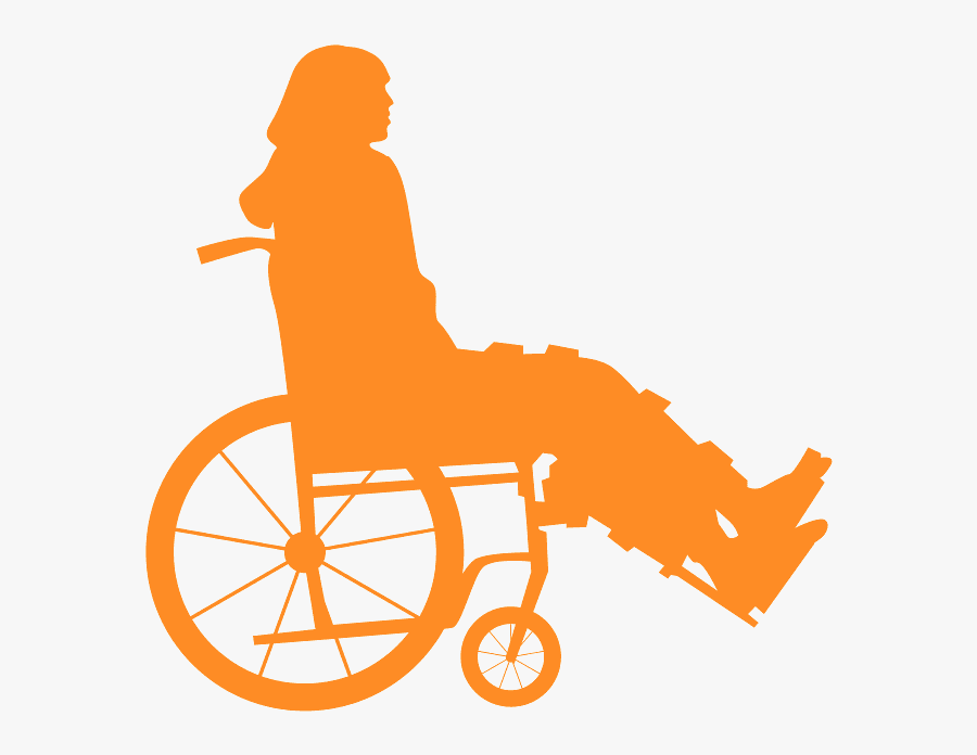 Silhouette Person In Wheelchair Png, Transparent Clipart