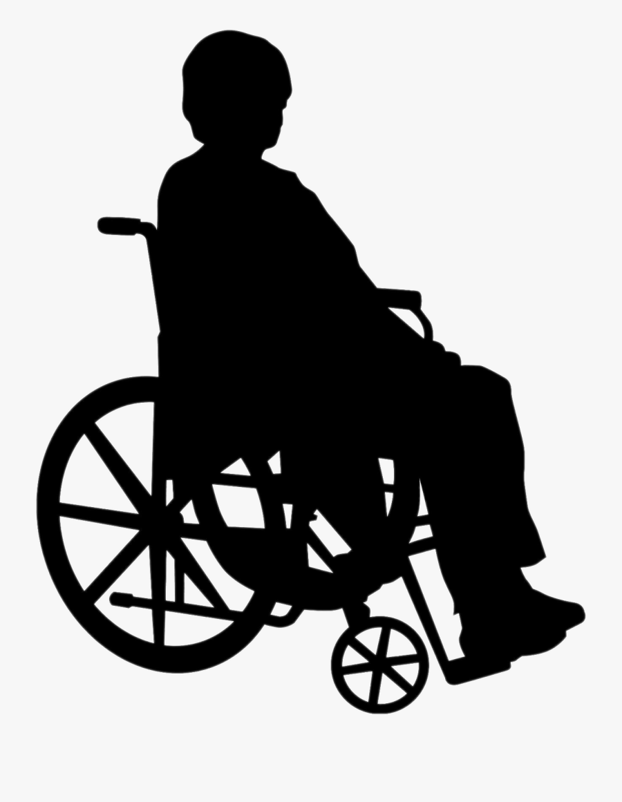 Wheelchair Person Silhouette Png , Png Download - Person In Wheelchair Silhouette Png, Transparent Clipart