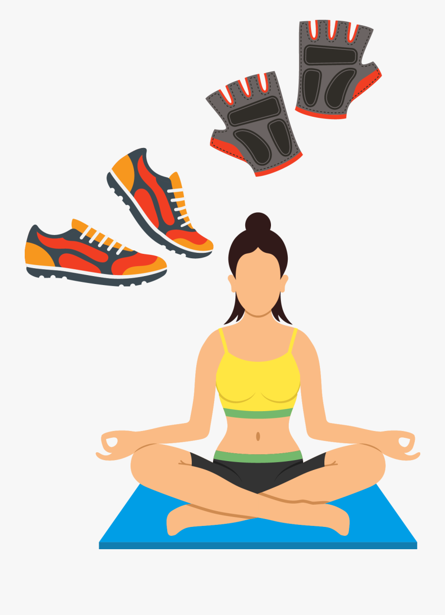 Meditation Yoga Clip Art Cartoon Running Shoes Png Free Transparent Clipart Clipartkey