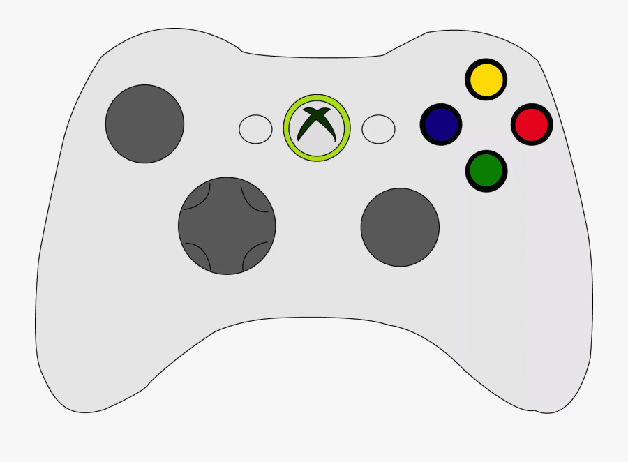 Coloring Page Xbox Controller Sketch Drawings Of Xbox - Easy Xbox Controller Drawing, Transparent Clipart