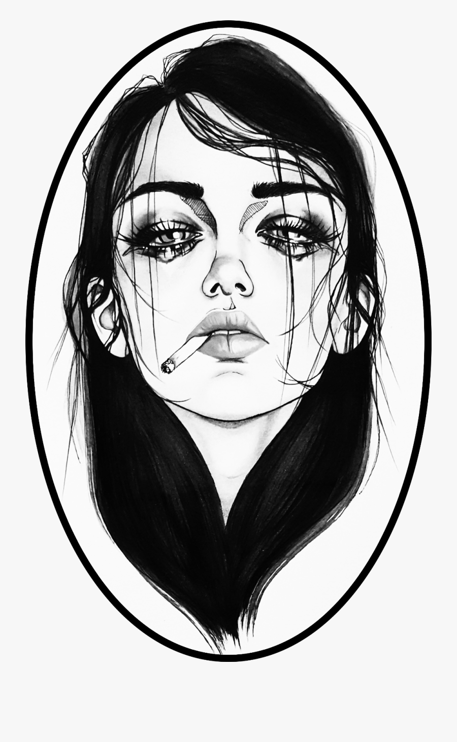 Sad Girl, Transparent Clipart