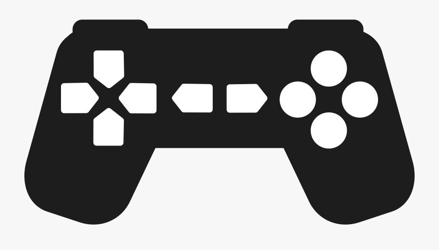 Joystick Clipart Silhouette - Clip Art Game Controller, Transparent Clipart
