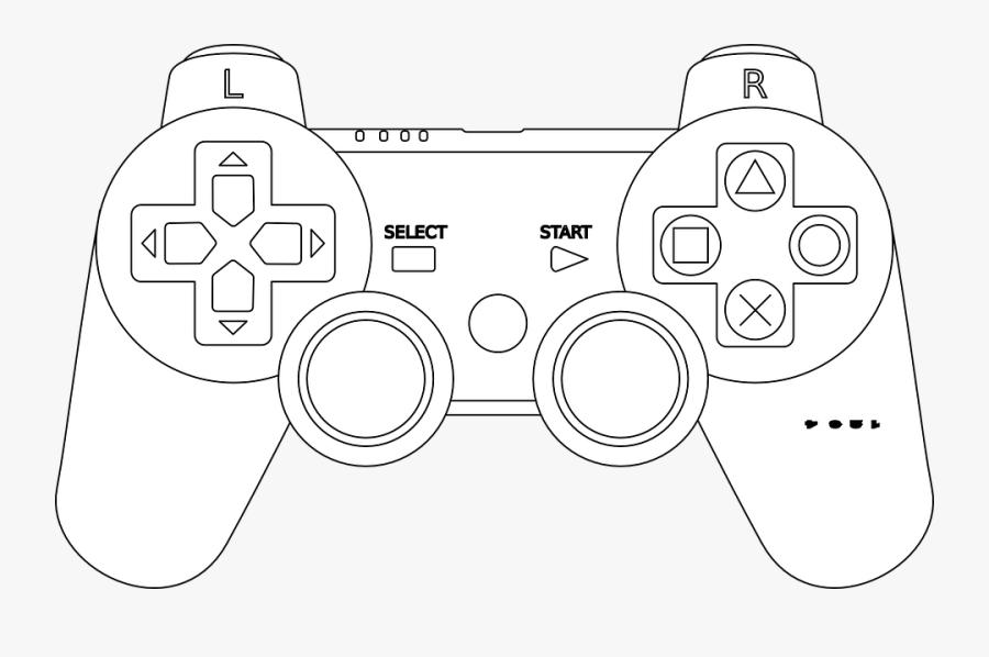 Nintendo, Video Game, Joystick, Game Controller - Game Controller Coloring Page, Transparent Clipart