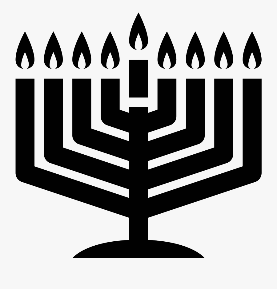 Icon Free Download Png - Free Menorah Candles Graphic, Transparent Clipart