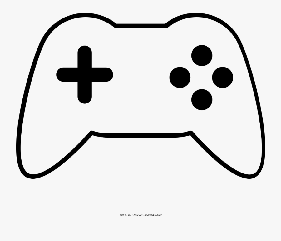 Game Controller Coloring Page - Emls Cup, Transparent Clipart