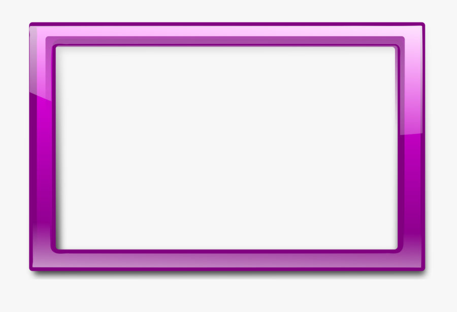 Glossy Transparent Purple Frames Clipart Vector Clip - Purple Borders And Frames, Transparent Clipart