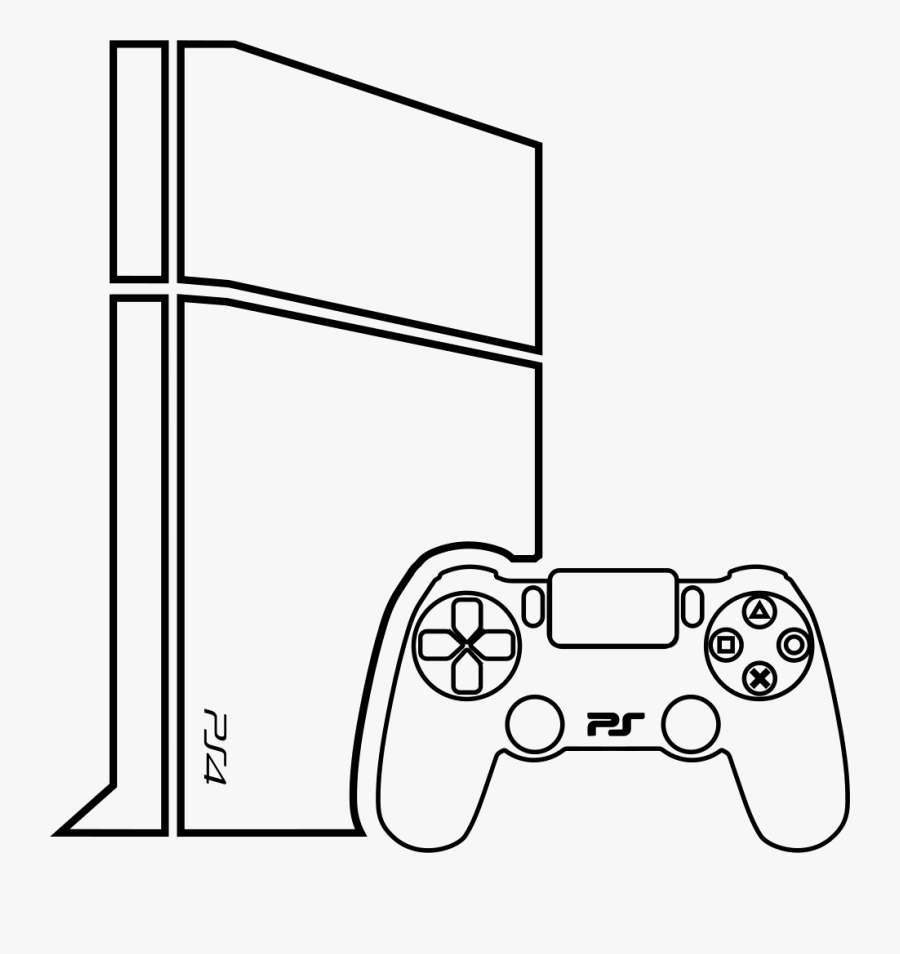 Gaming Drawing Console For Free Download - Video Games Consoles Drawing, Transparent Clipart