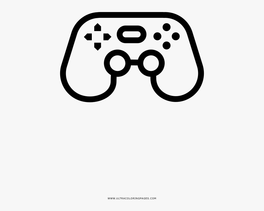 Video Game Controller Coloring Page - Game Controller, Transparent Clipart