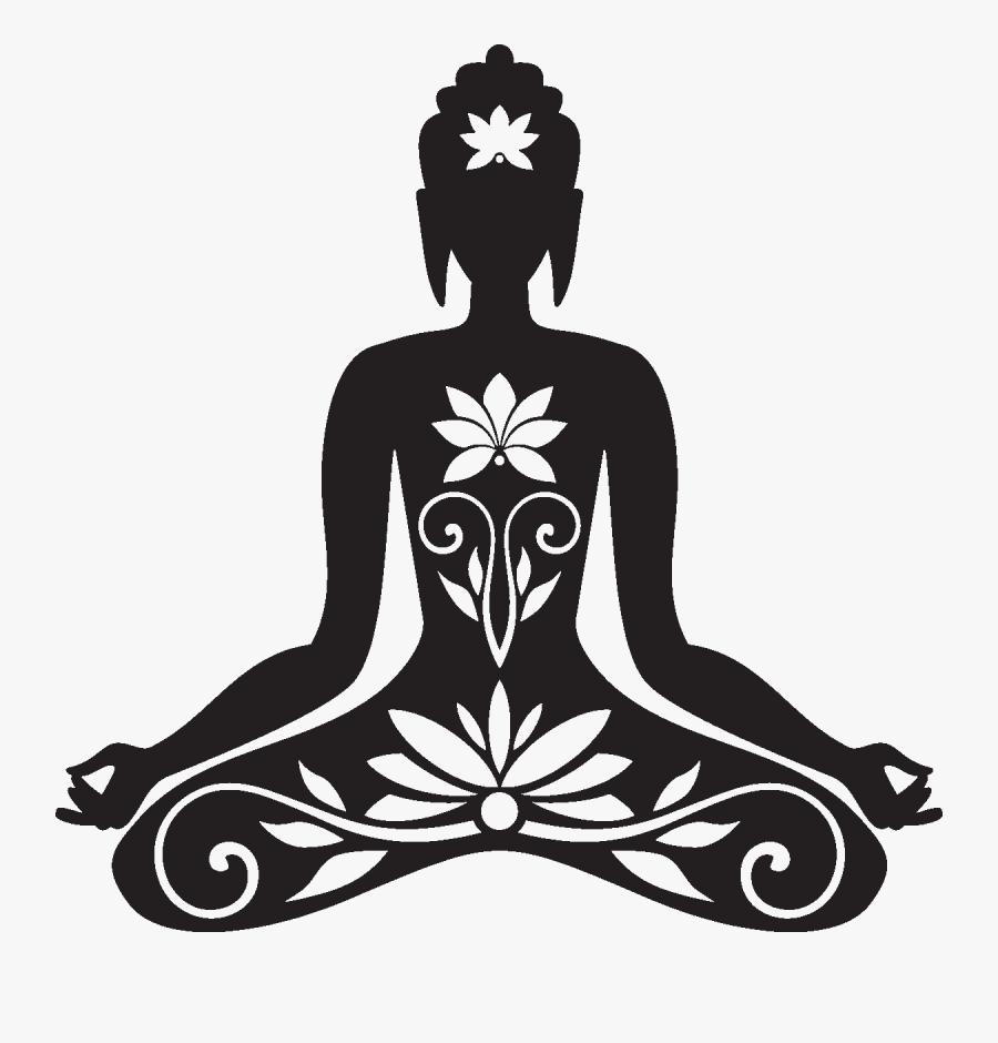 Buddha Clipart Bouddha - Zen Stencil, Transparent Clipart