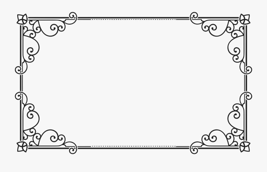 Transparent Baroque Frame Png - Rectangle Frame Png, Transparent Clipart