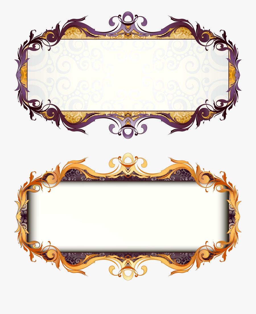 Picture Frame Art Deco - Title Frame Png, Transparent Clipart