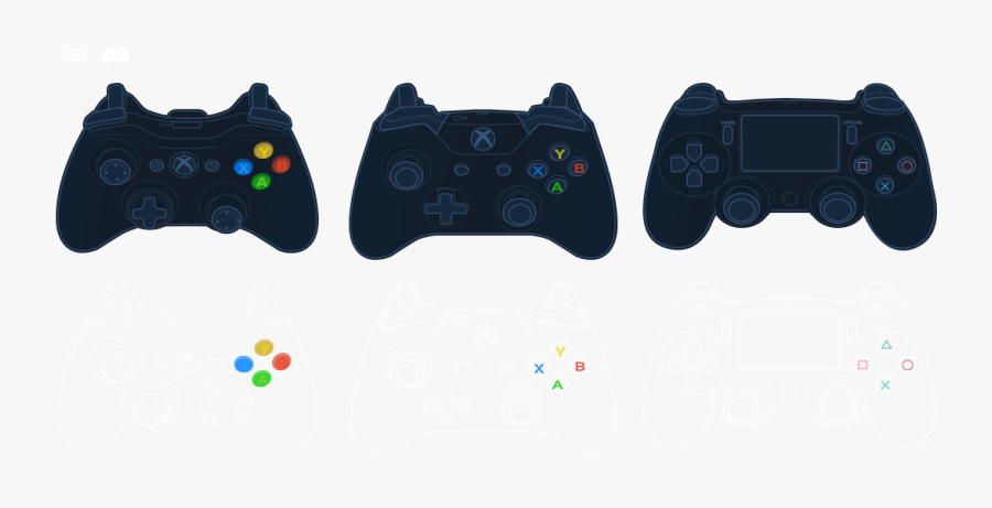 Collection Of Free Controller Vector Steam - Game Controller, Transparent Clipart
