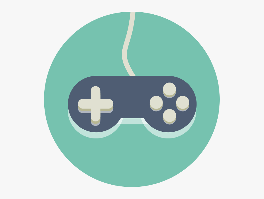 Video Game Controller Icon, Transparent Clipart