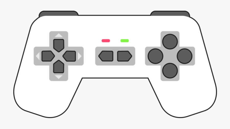 Xbox Controller One Playstation Accessory Game Controllers - Game Controller Clip Art Black And White, Transparent Clipart
