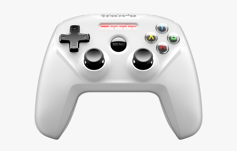 Transparent Controler Png - Nimbus Wireless Controller White, Transparent Clipart