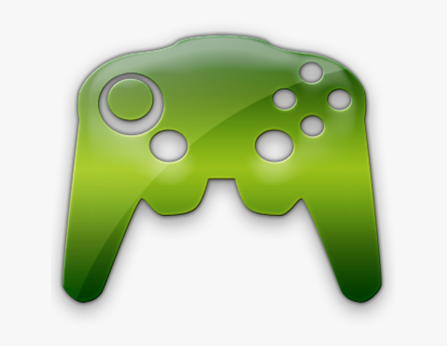 Green Video Game Controller, Transparent Clipart