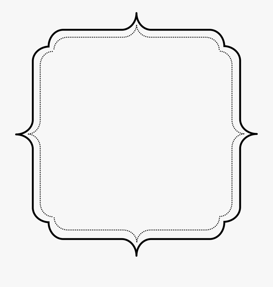 Transparent Simple Rectangle Frame Clipart - Frame Simple Border Clipart, Transparent Clipart