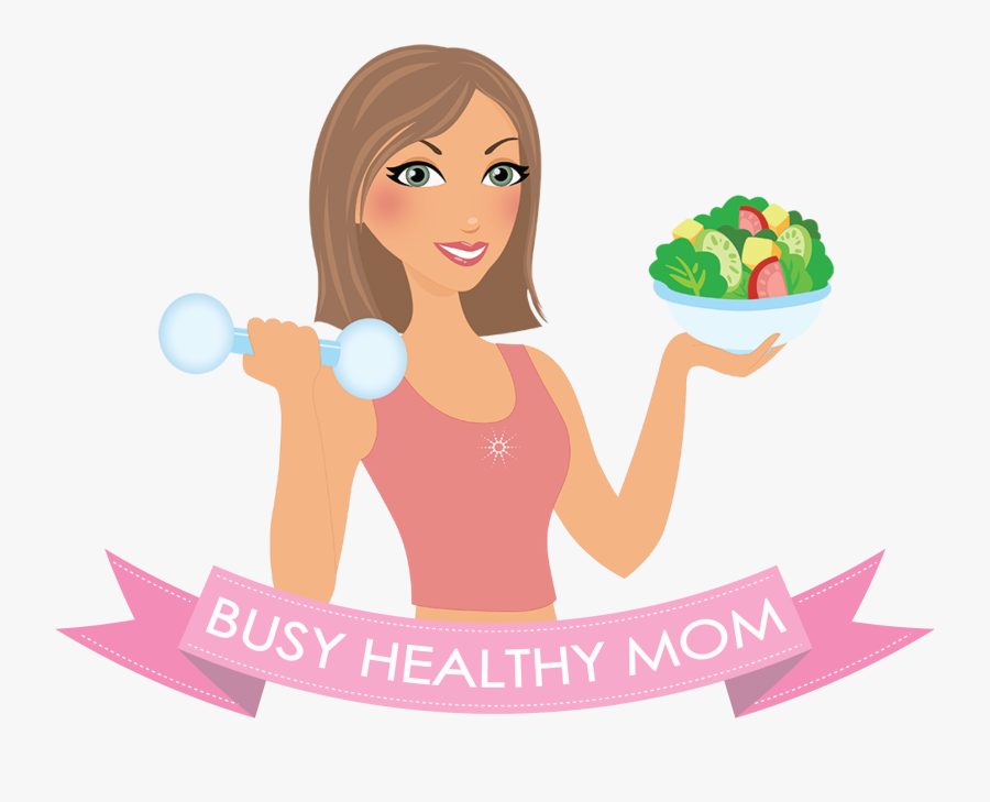 Girl Eating Healthy Food Clipart, Transparent Clipart