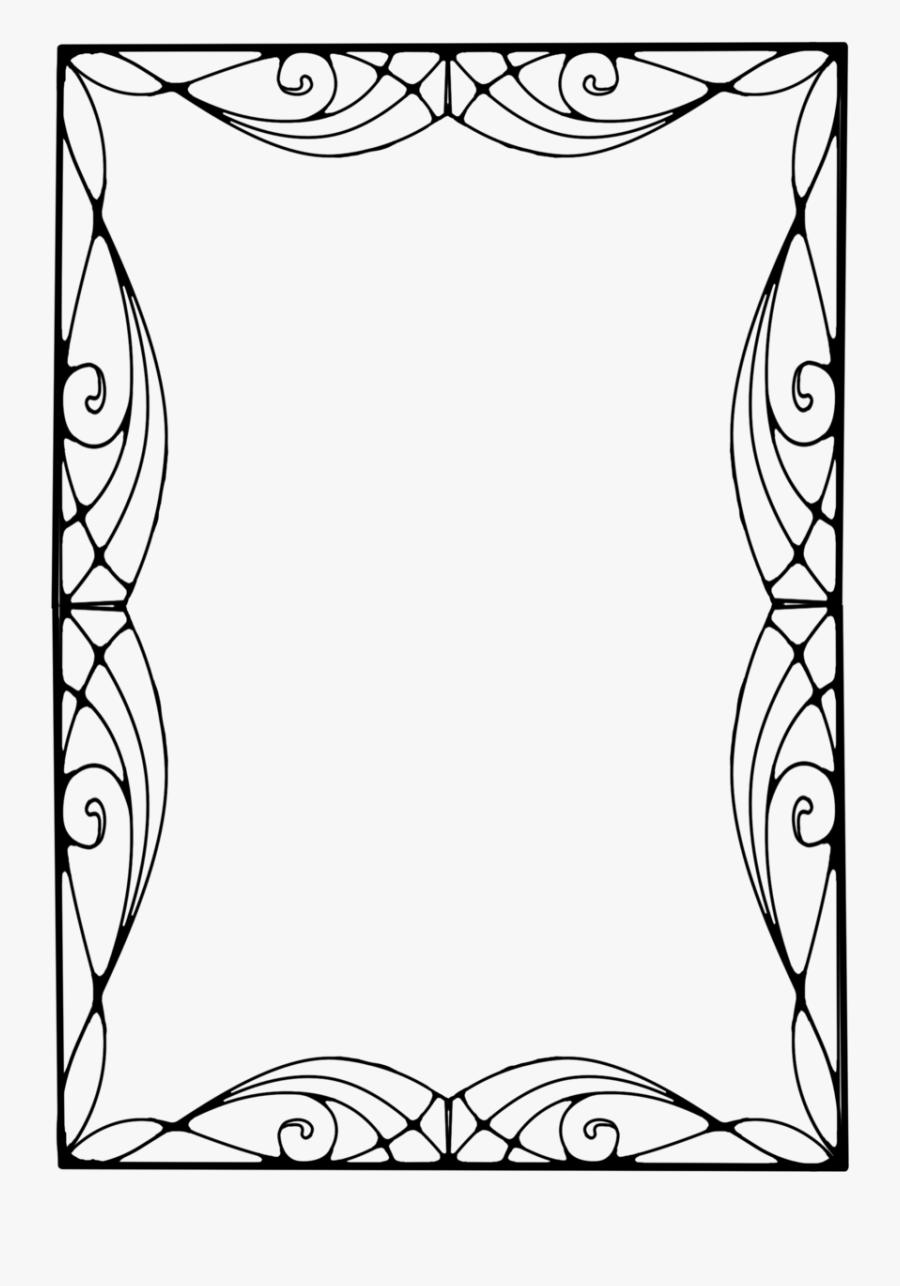 Art Nouveau Frames - Art Deco Frame Png, Transparent Clipart