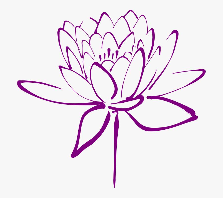 Lotus, Flower, Blossom, Petals, Decorative, Blooming - Lotus Flower Graphic, Transparent Clipart
