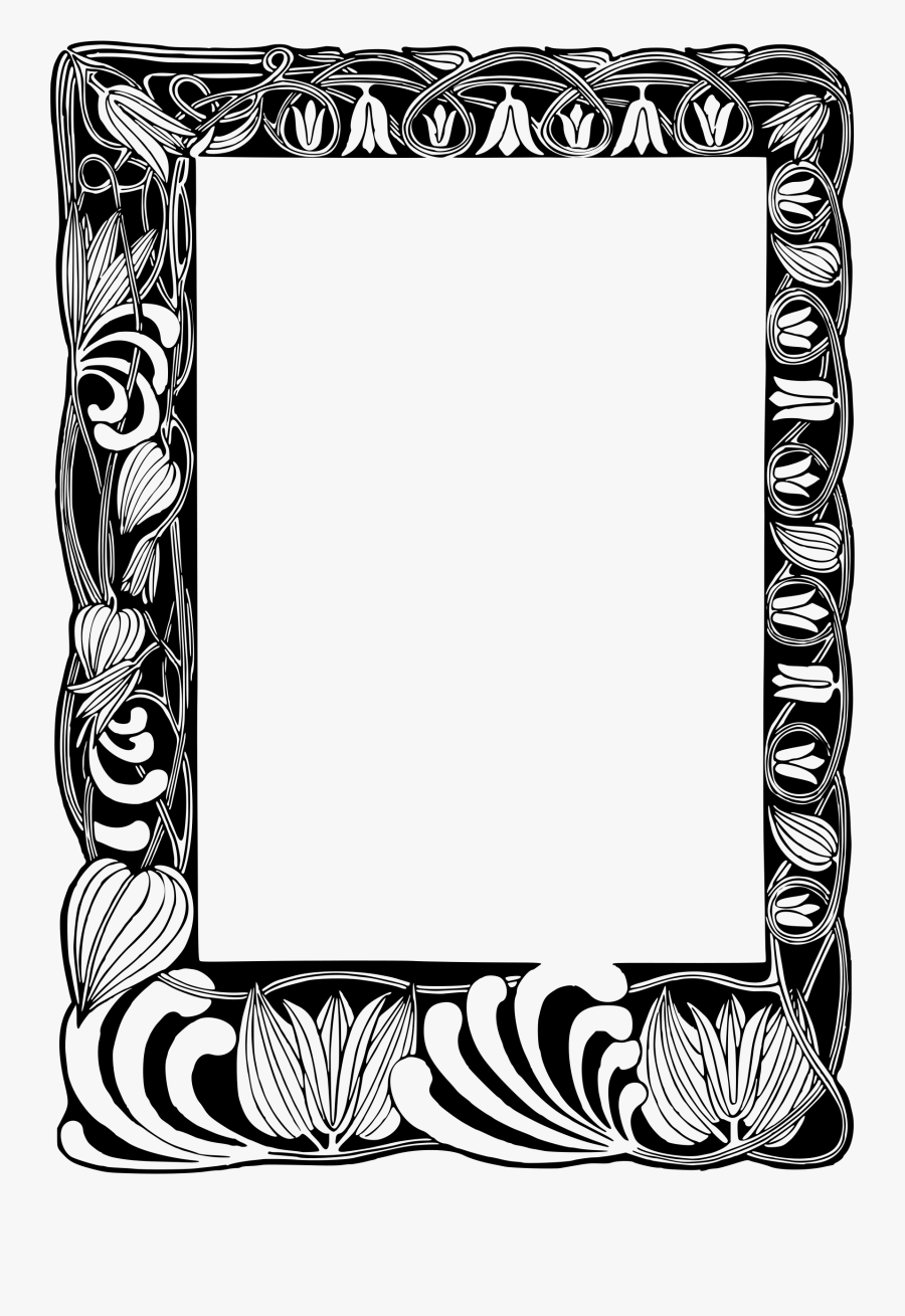 Transparent Clipart Picture Frames - Frame Border Black And White, Transparent Clipart