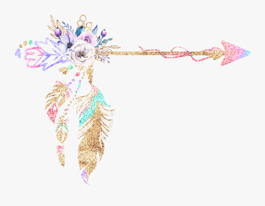 Boho Arrow Png, Transparent Clipart