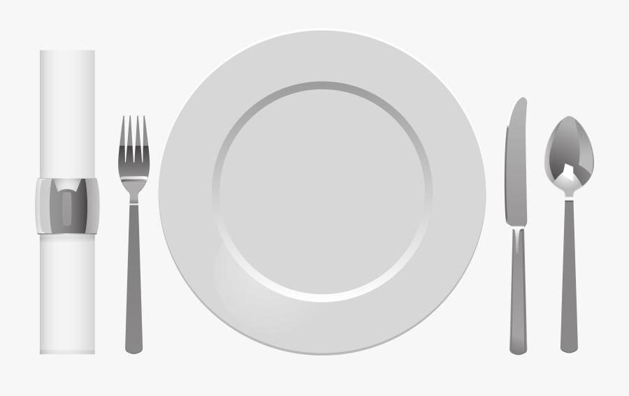 Spoon Clipart Plate, Transparent Clipart