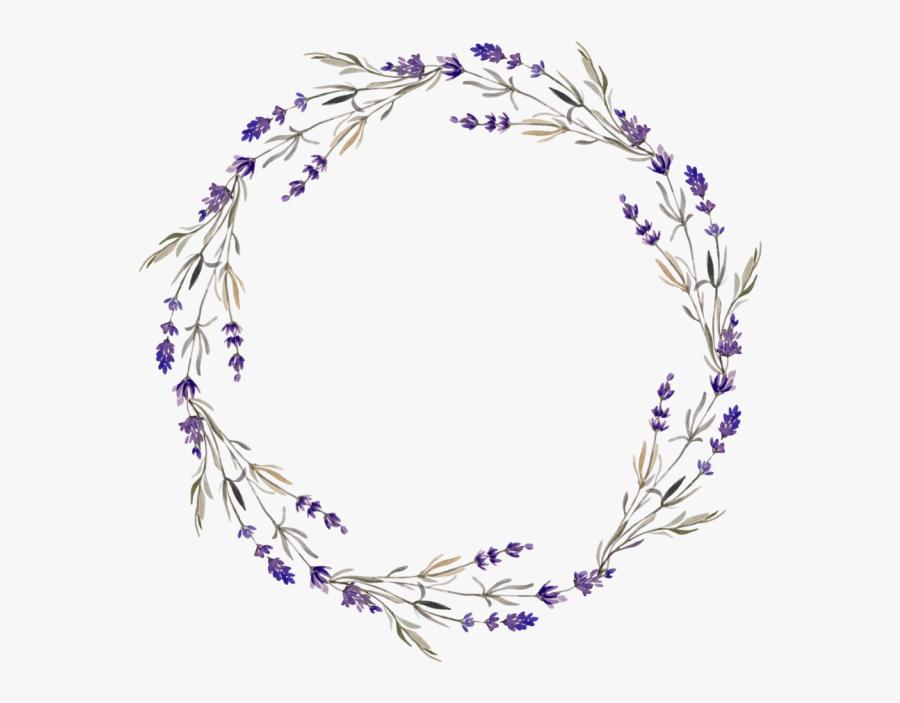 Orange And Purple Vintage Flower Wreath Png, Transparent Clipart