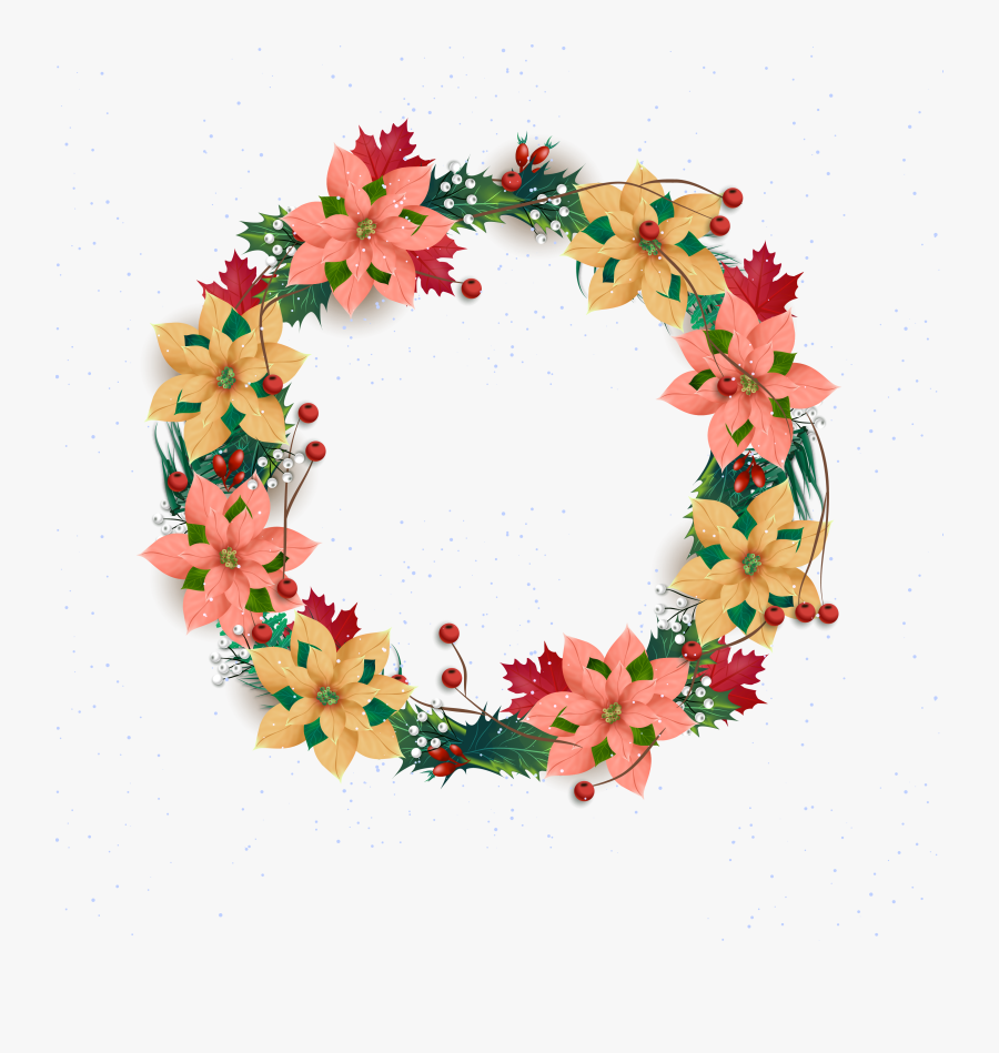 Png Free Stock Wreath Christmas Flower Transprent Png - Craft, Transparent Clipart