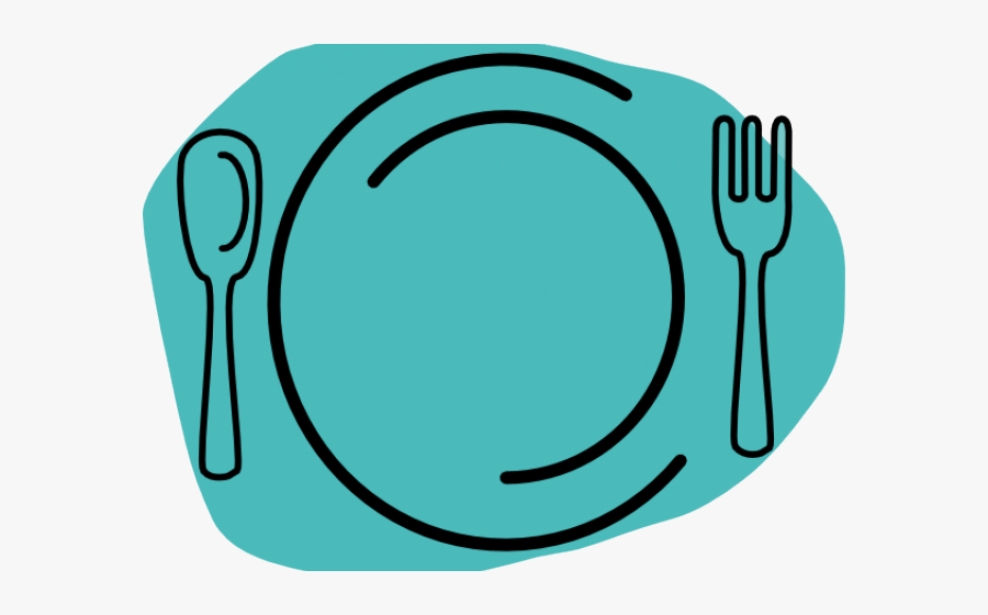 Plate Clipart - Plate With Fork And Knife Clipart, Transparent Clipart