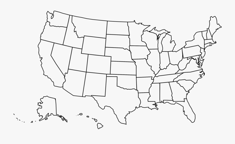 Usa Politique - Crater Lake Usa Map, Transparent Clipart