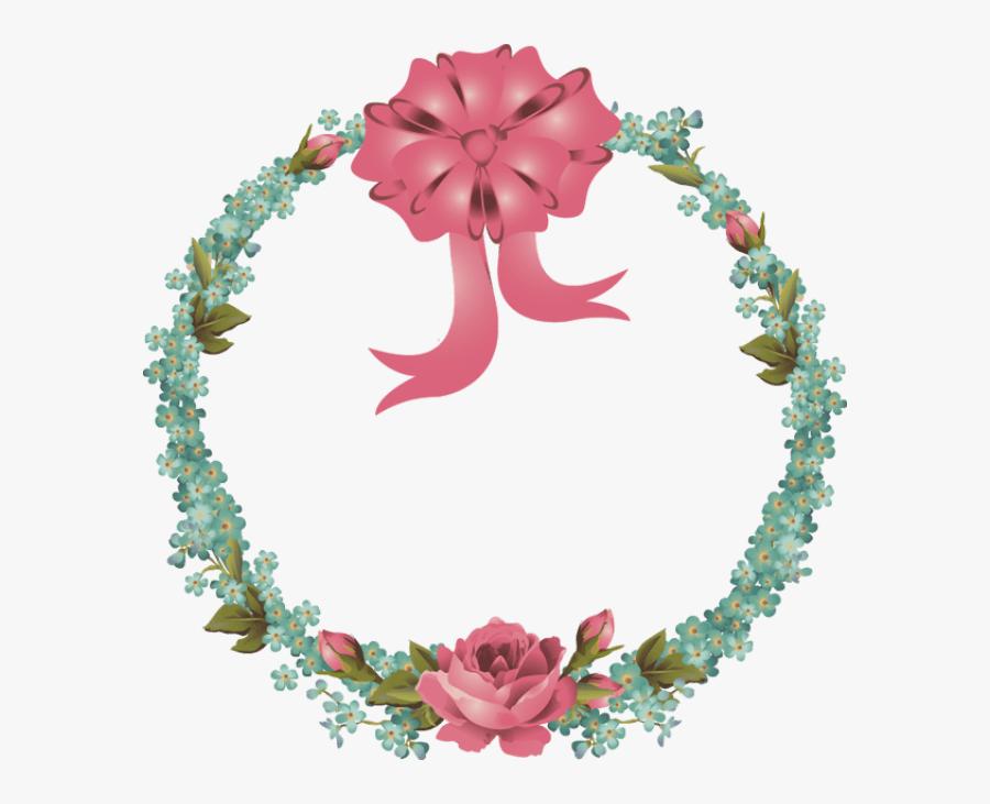 Spring Wreath Clipart Transparent - Victorian Vintage Happy Easter, Transparent Clipart