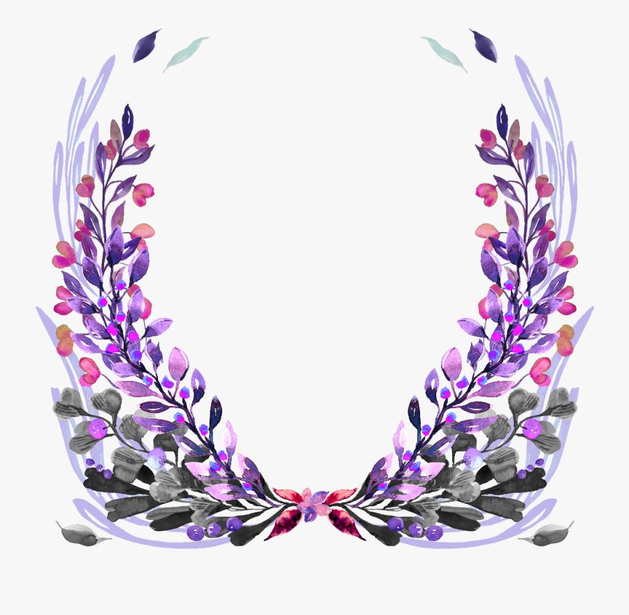 Flower Wreath Clipart, Transparent Clipart