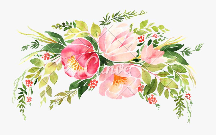 Floral Wreath Illustration Png, Transparent Clipart