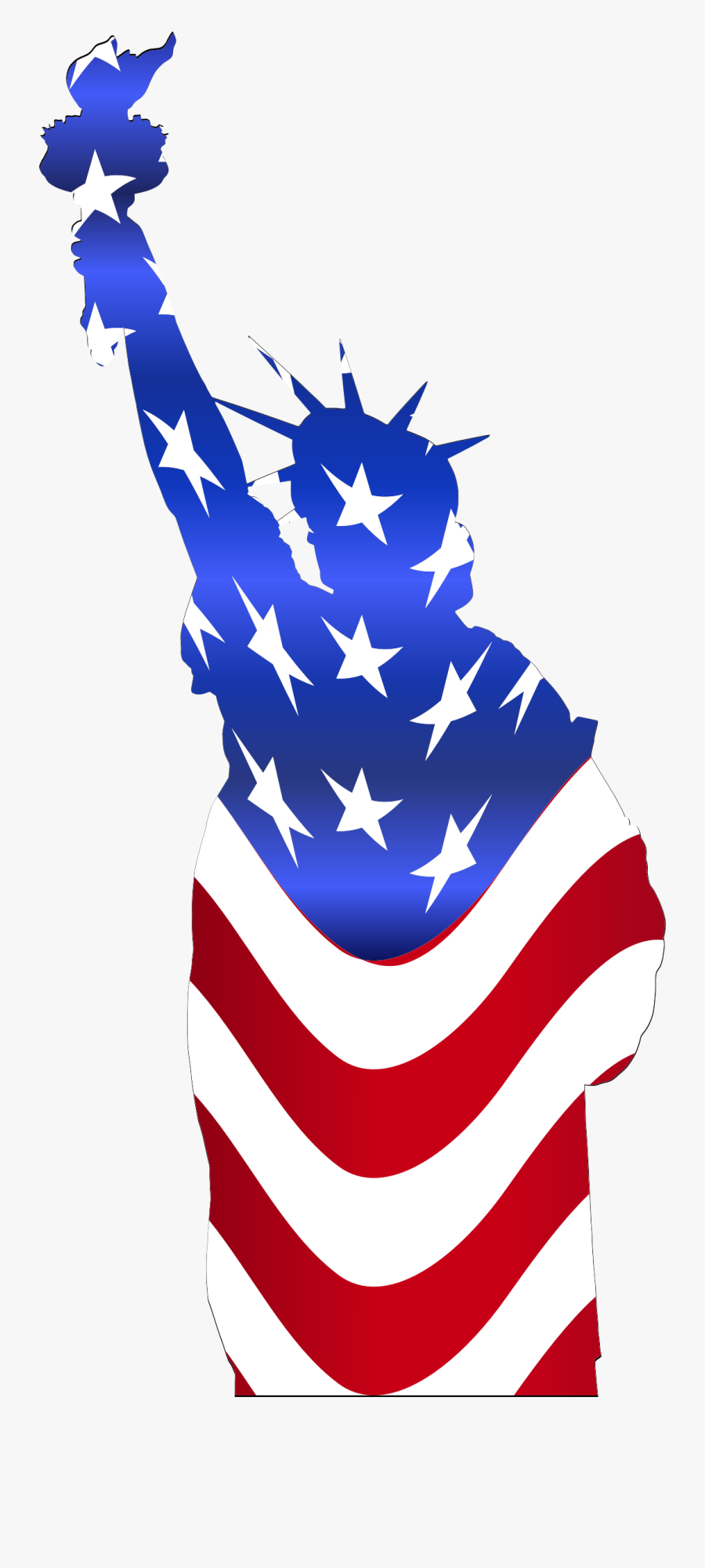 Of Flag Big Image - Statue Of Liberty Usa Clipart, Transparent Clipart