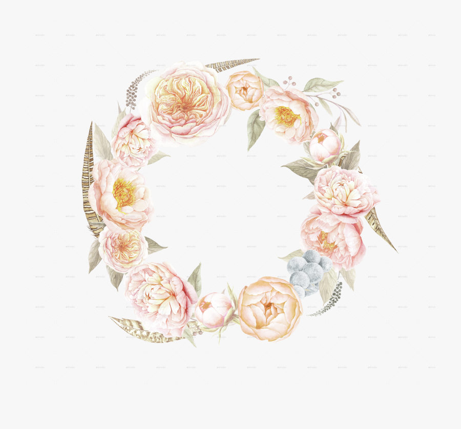 Vector Black And White Stock Transparent Wreath Vintage - Floral Wreath Png, Transparent Clipart