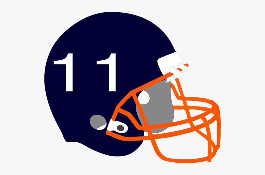 Football Helmet Svg Clip Arts Blue And Orange Football Helmet Free Transparent Clipart Clipartkey
