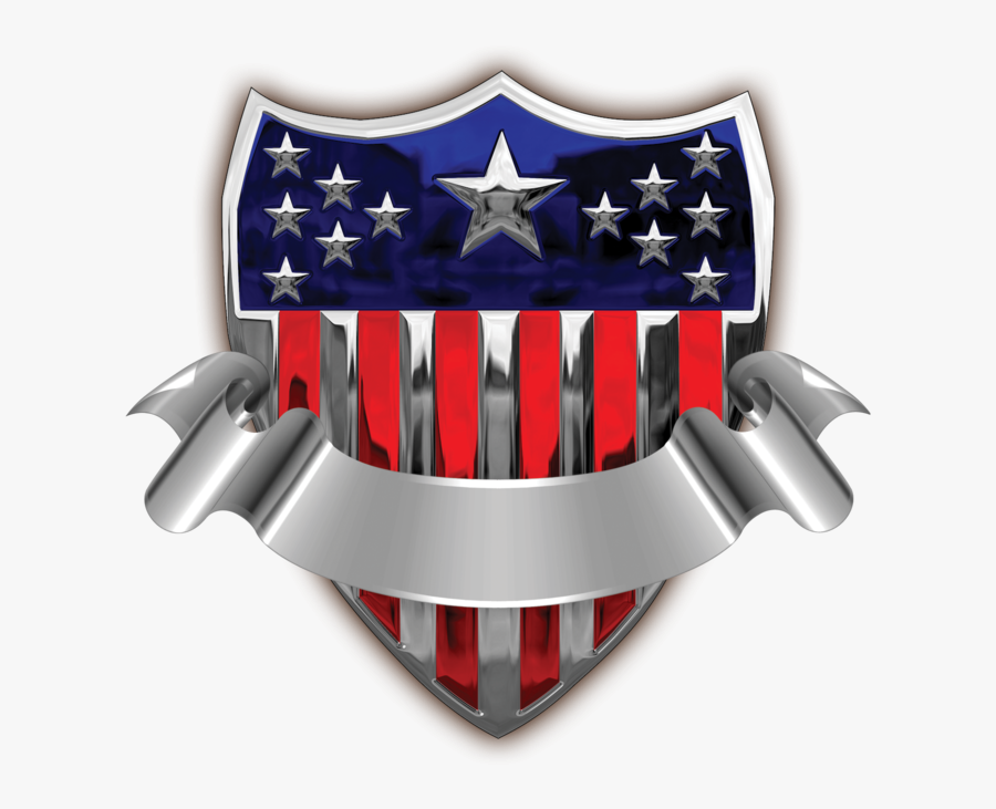 Usa Badge With Banner Transparent Png Clip Art Image - Usa Transparent Png Banner, Transparent Clipart