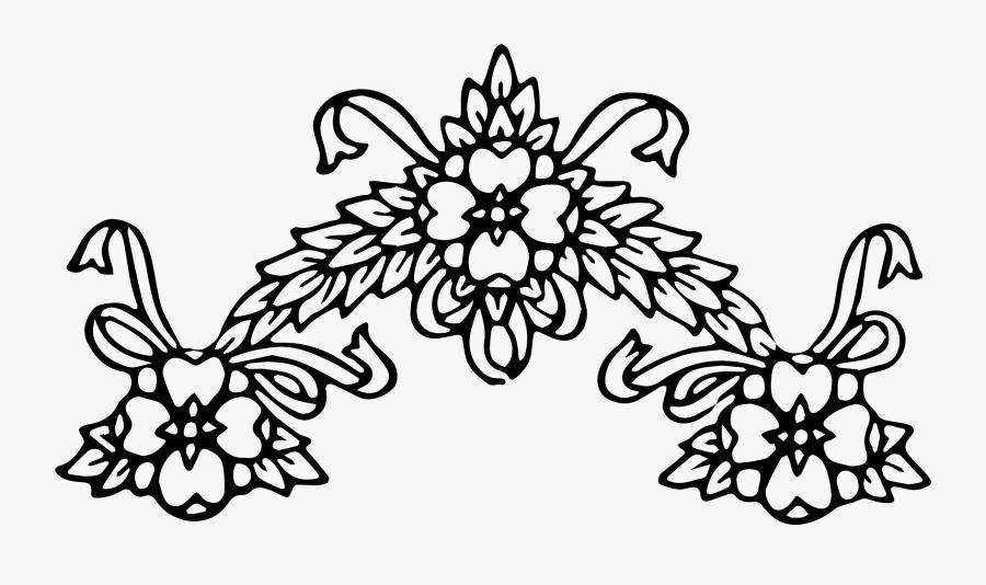 Vintage Floral Wreath Borders Clip Art Image Collection - Black And White Png Clipart Flowers Border, Transparent Clipart