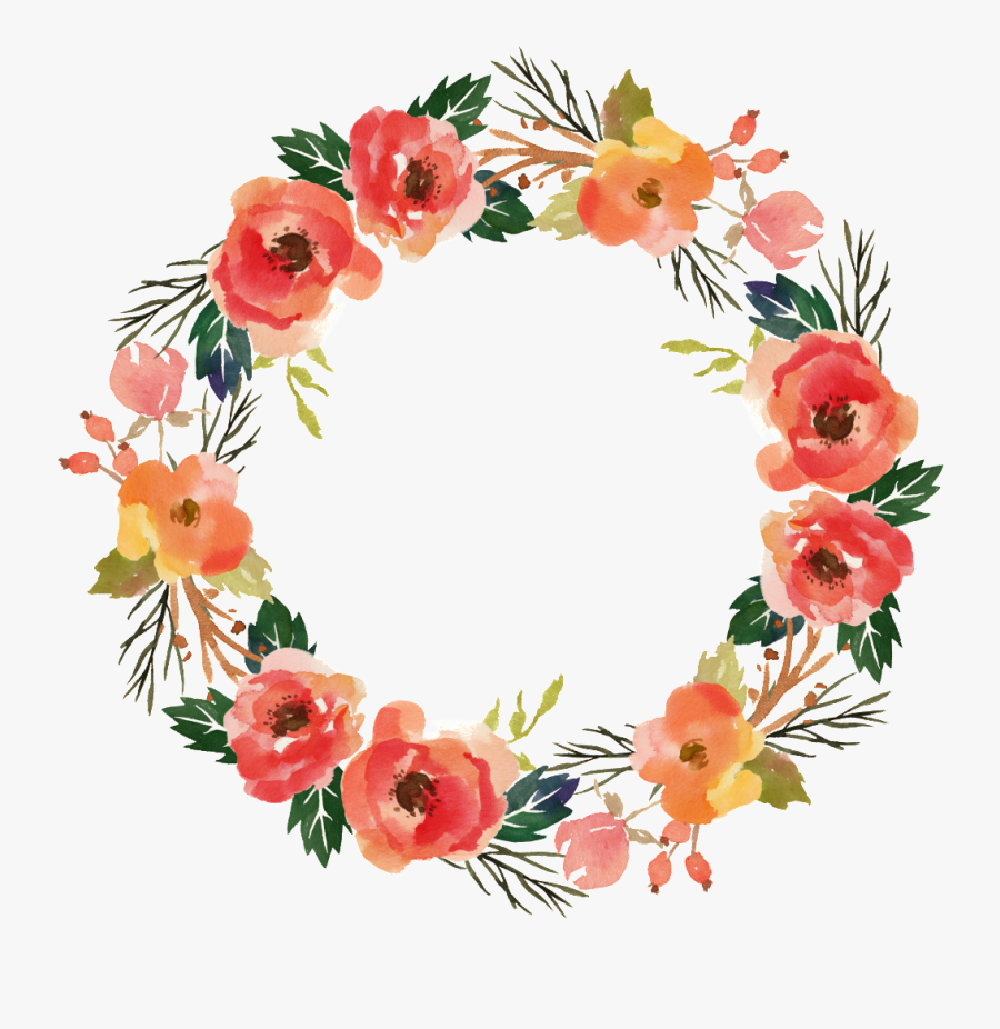 Transparent Greeting Clipart - Transparent Flower Circle Watercolor, Transparent Clipart