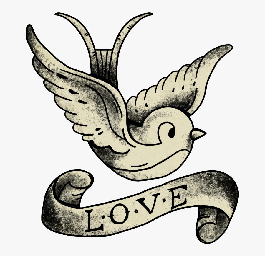 Tattoo School Old Sleeve Artist Vintage Clipart - Vintage Old School Tattoo Logo, Transparent Clipart