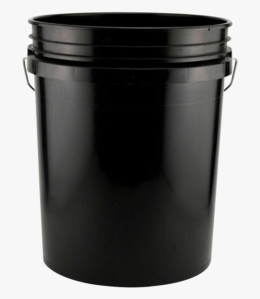 Plastic Bucket Png Clipart - Black 5 Gallon Bucket, Transparent Clipart