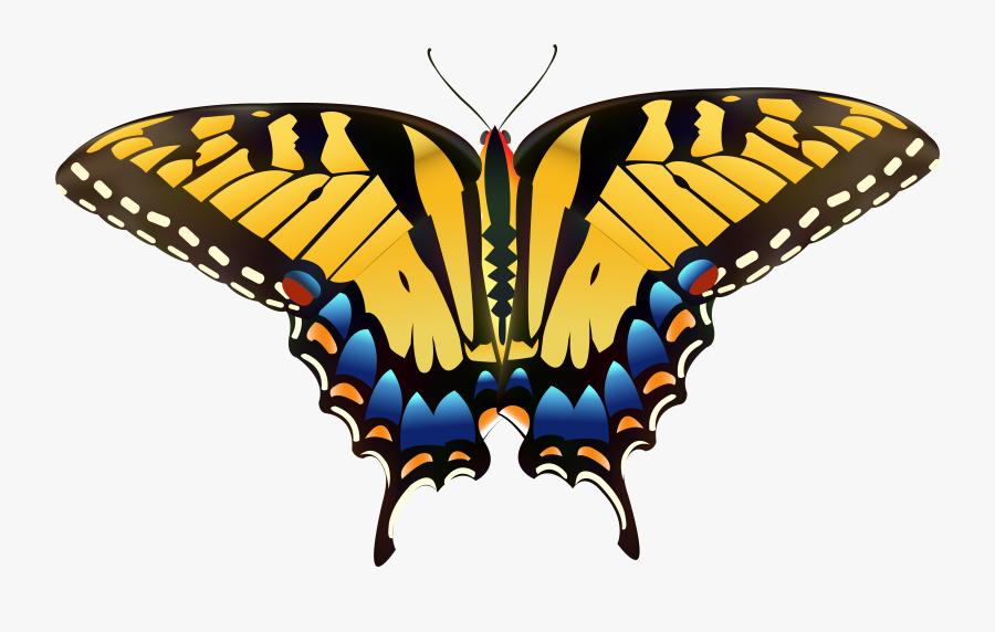 Yellow Butterfly Png Clip Art - Yellow Butterfly Clip Art, Transparent Clipart