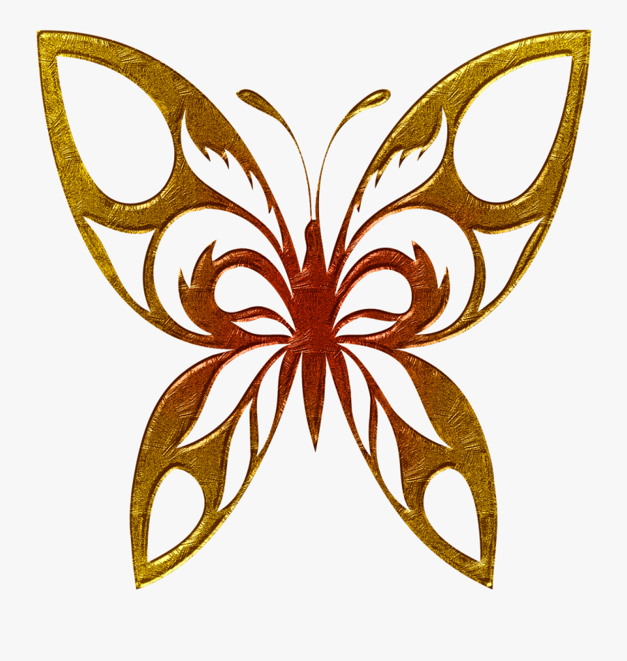 Butterfly Golden Clipart Clip Arts - Colorful Butterfly Mask Designs, Transparent Clipart