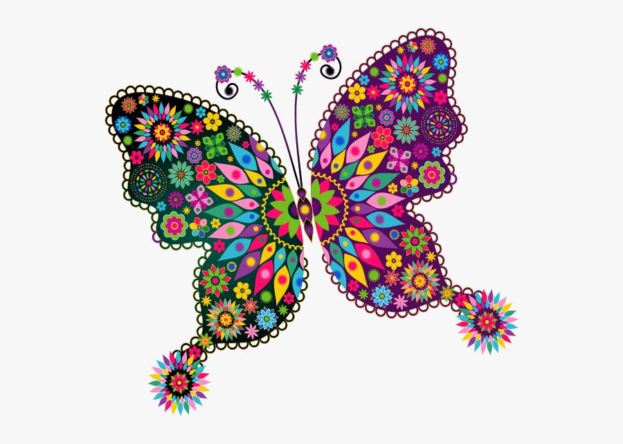 Content Png Clip Art - Mandalas De Mariposas Pintadas, Transparent Clipart