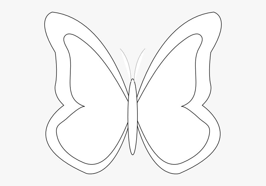 Clipart Butterfly Outline - Butterfly Outline Black Png, Transparent Clipart