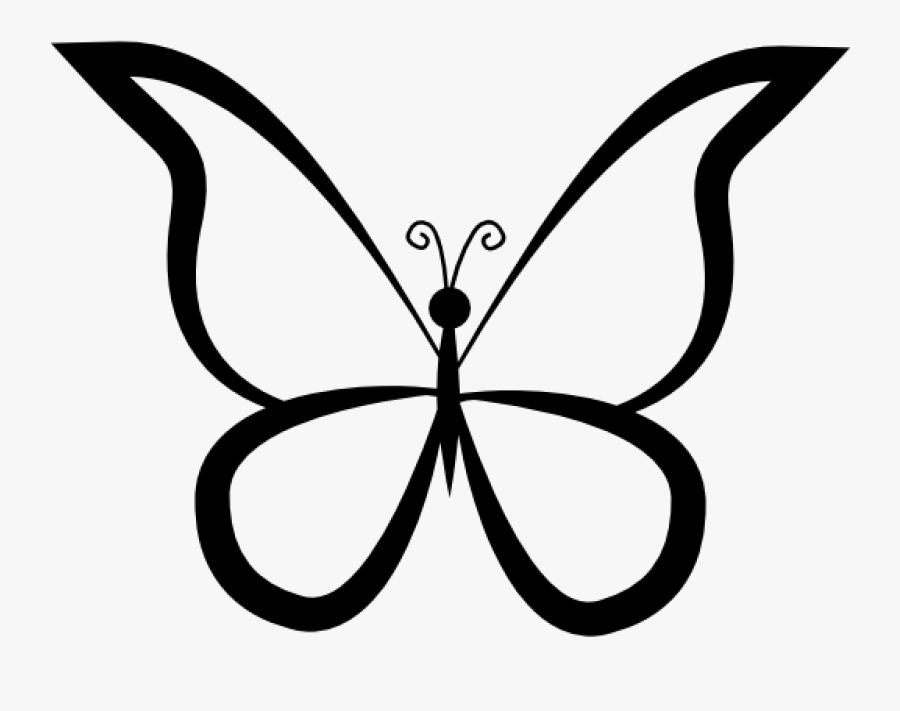 Butterfly Outline Clipart Butterfly Outline Drawing - Outline Images Of Butterfly, Transparent Clipart