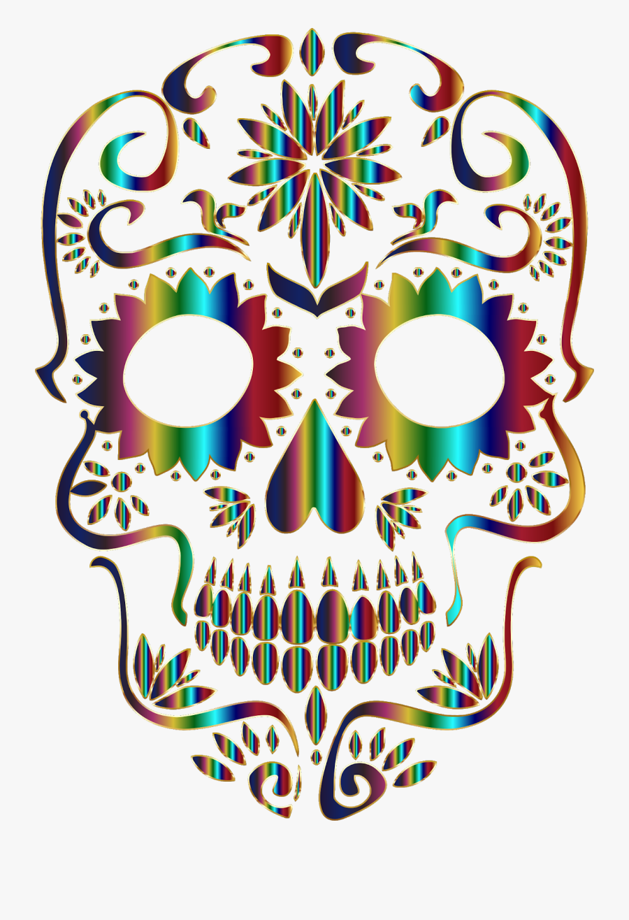 We Honor Jerry Gonzalez And All Departed, On This Day - Sugar Skull Clipart Png, Transparent Clipart