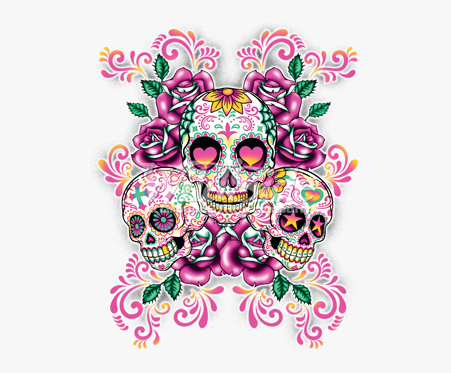 Calavera Skull Day Of The Dead Pastel Desktop Wallpaper - Pink Sugar Skull, Transparent Clipart